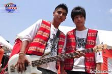 Marcelo Masias y Heisei Nakasone, jóvenes peruanos integrantes de Pachamama