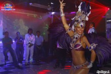 Carol Scaffi con su show de Samba