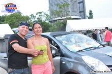 2013.07.28 Fiesta Patria El gran sorteo de un carro siendo la ganadora la brasileña Sandra Suguimoto.