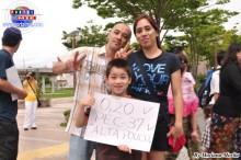 Familia brasilera realizando su protesta en Hamamatsu