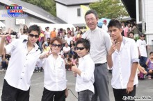 Grupo Talento Nazca acompañados del Padre Ángel Yamanouchi