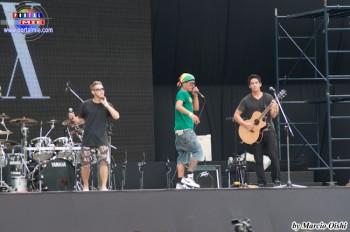 Los locos del Grupo Skimbal tocaron Hip Hop y Rock con un estilo único en el escenario.