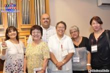 Padre Roberto, Hna. Ana María y representantes de Comunidades.