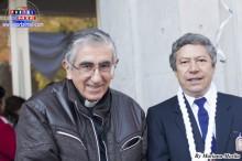 Cónsul del Perú en Tokio, Ministro Cárdenas y Padre Mario Maguiña.