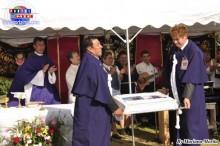 El mayordomo David Alzamora feliz en el 15 avo. aniversario de Procesión.