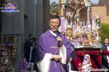 Párroco Ángel Yamanouchi oficio la misa.