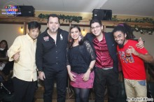 Participantes del concurso de karaoke