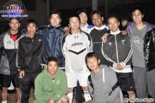 Los ex integrantes del equipo Riber, organizadores del campeonato.