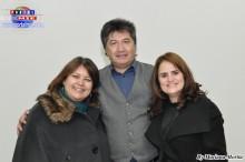 El ilustre expositor Dr. Ricardo Monteiro acompañado de su esposa Diva y la profesora Sandra.
