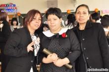 Abril acompañada de su madre Susana y su abuelita Luisa.