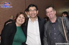 Sandra Mieko, Sergio Tinen y Roberto Martins.