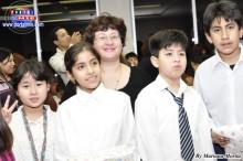Esperanza Hirano, Líder y profesora de español acompañada de sus alumnos
