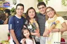 Familias felices festejando el Día de Mamá