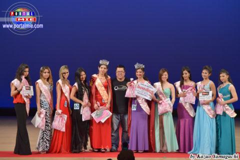 Ganadoras de New Face Japan acompañadas del organizador Marcus Paulo.