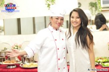 Marisol Haga, experta chef, acompañada de su adorada Emily`s