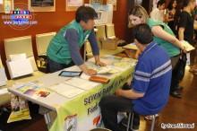 Stands estuvieron concurridos durante el día- Productos y servicios diversos, foto stand de Seven Bank.