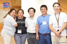 Padre Ernesto Shimabukuro acompañado de los representantes de la Diócesis de Nagoya