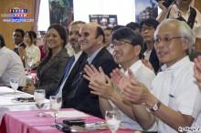 Autoridades disfrutando el evento