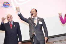 El Alcalde de Tsushima, señor Hibi Kazuaki realizó el brindis de honor con motivo del Día de la Independencia de Perú.