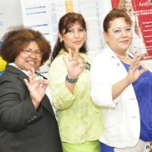 Exitosas líderes Presidenta Rosa Sato  y supervisoras Rosa Rosas y María Nakashima,