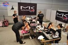 Las maquilladoras de Mk beauty design realzando la belleza de las bailarinas