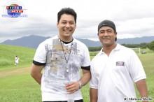 Los árbitros brasileños Marcelo Awamura y Fabiano Setoguchi.