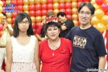 Maritza acompañada de su esposo y su hija Naomi.