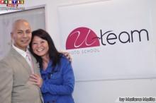 Marcio Uda director de U-Team Photo School acompañado de su amada Tais!