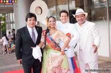 Campeones Gisela y Carlos acompañados de Luky y Chanito.