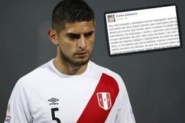 Carlos Zambrano no pudo dormir y pide disculpas a todo el pais