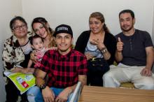 Familias completas en la fiesta peruana
