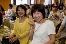 Japoneses disfrutando del evento