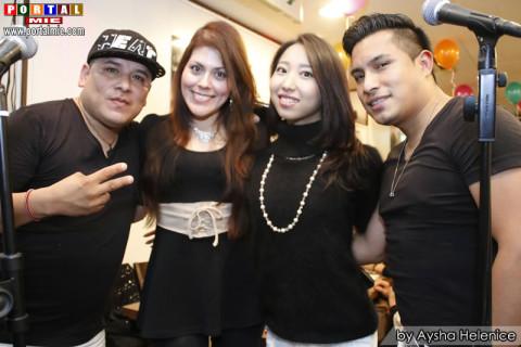 Miguel, Rosa, Asami e Dennys