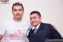 Coordinador Renato López y Jair Maeda