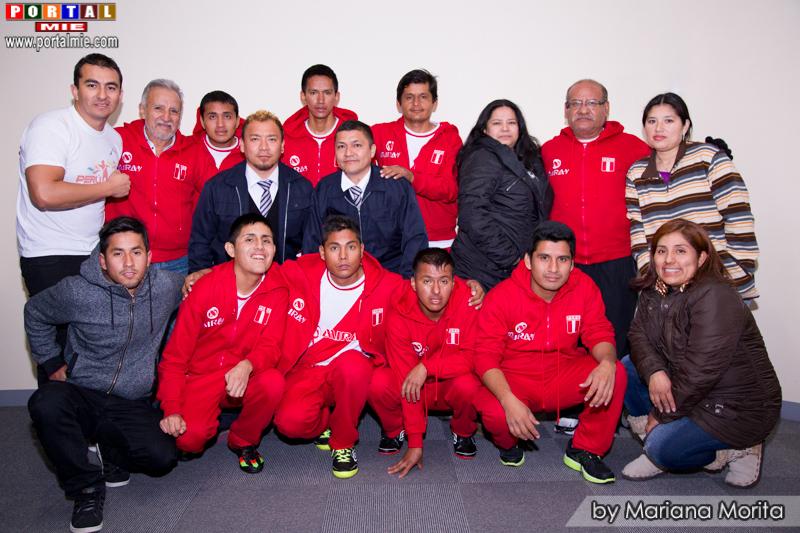 Peruanos de Hamamatsu da la bienvenida a la Selección Futsal Peruana Pro Salud Mental