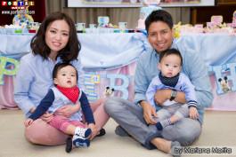 Andy y Yuri muy felices con sus angelitos Riri y Riku