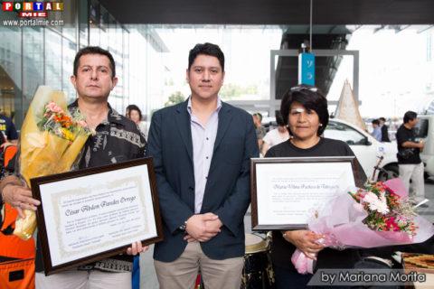 Cónsul Adscrito Javier Salas, César Paredes y Vilma Takiguchi