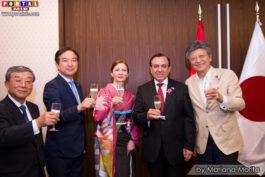 Embajador Elard Escala y autoridades japonesas