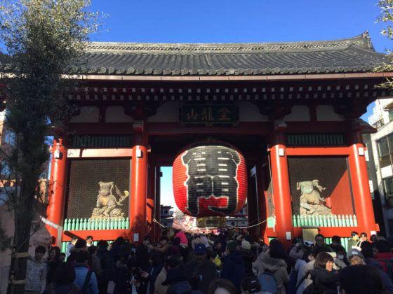 Kaminarimon, a entrada mas conocida del templo