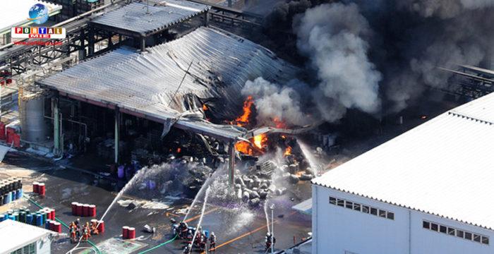 &nbspIncendio en fábrica de Ibaraki: orden de evacuación para 749 familias
