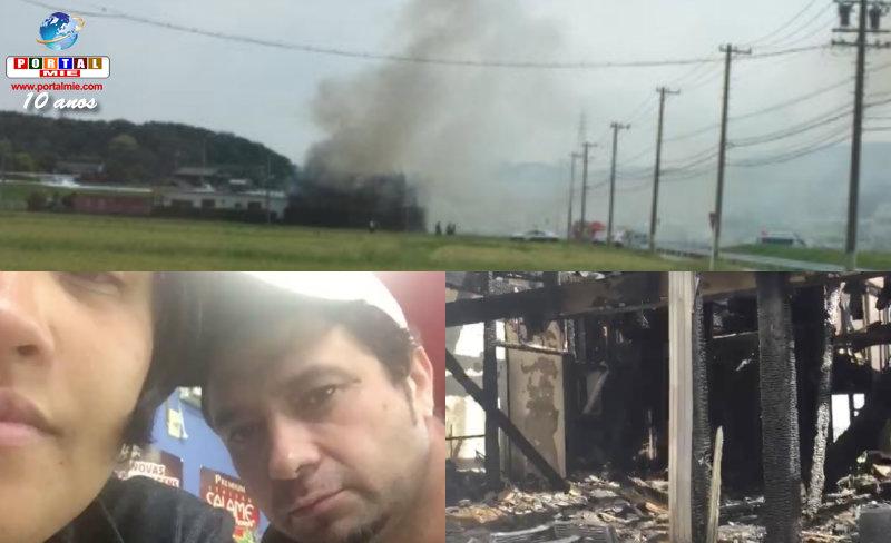 &nbspIncendio consume casa de una familia brasileña