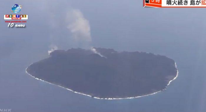Isla de Japón continua aumentando