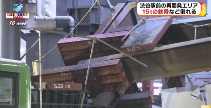 &nbspTokyo: estructura de fierro de 15 toneladas cae de la Estación de Shibuya
