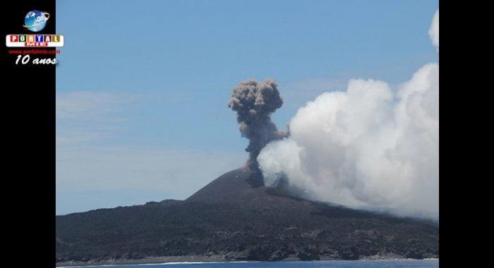 &nbspVolcán Nishinoshima entra en erupción nuevamente