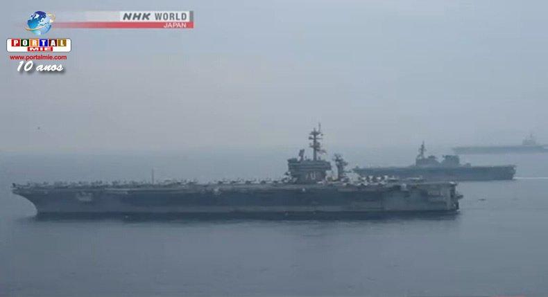 &nbspDos portaaviones  americanos dejan Mar de Japón