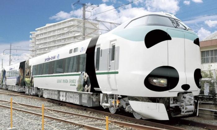 &nbspTren temático de panda entrará en circulación en Japón