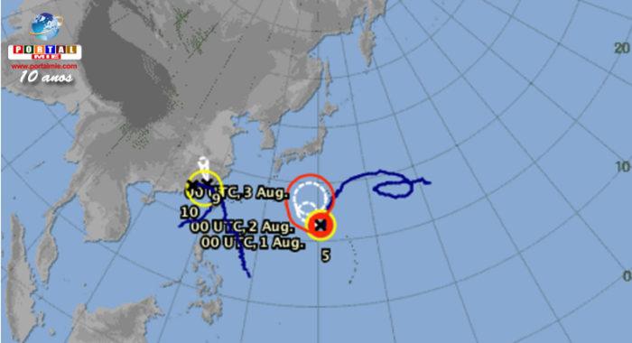 &nbspTifón Nº5 se intensifica rápidamente para un súper tifón