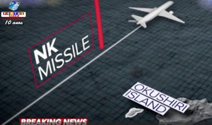Aeronave comercial casi fue alcanzada por el  misil de Corea del Norte