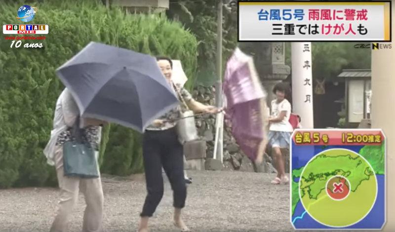 &nbspTifón  n.º 5: aproximación en la región  Tokai  a las 19h y daños en Mie