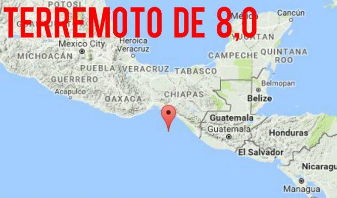 Fuerte terremoto de magnitud 8.0 sacude el sur de Mexico